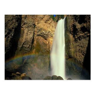 Mysty Rainbow Tower Falls Postcard