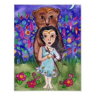 Myth of Callisto Greek Mythology Art Poster