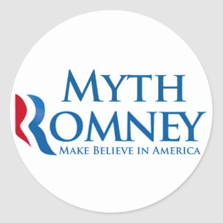 Myth Romney Round Sticker