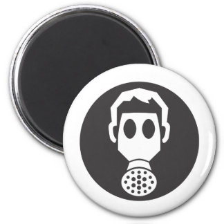 Mythbusters Gas Mask 2 Inch Round Magnet