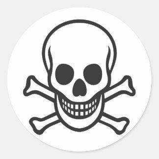 Mythbusters Skull Classic Round Sticker