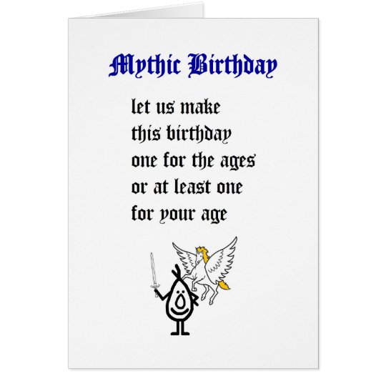 Mythic Birthday - A Funny Happy Birthday Poem