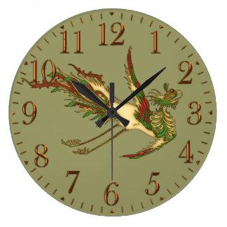 Mythical Asian Dragon Chinese Art History Clock