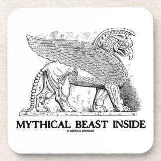 Mythical Beast Inside (Griffin / Gryphon) Beverage Coaster