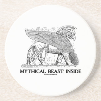 Mythical Beast Inside (Griffin / Gryphon) Drink Coaster