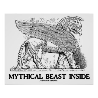 Mythical Beast Inside (Griffin / Gryphon) Poster