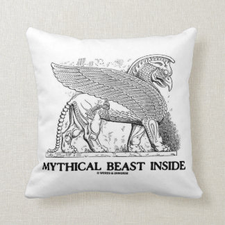Mythical Beast Inside (Griffin / Gryphon) Throw Pillow