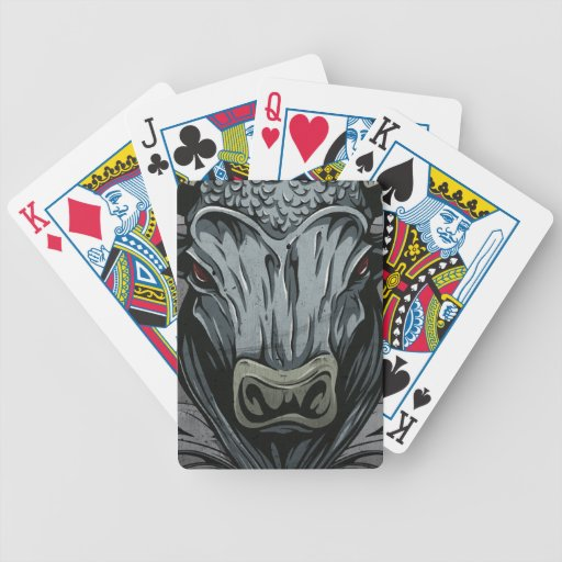 Mythical Bull Beast Illustration Bicycle Playing Cards
