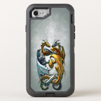 Mythical Celtic Dragons Fantasy Tattoo OtterBox Defender iPhone 7 Case