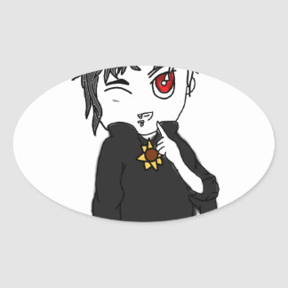 Mythical Creature Collection: I Is a Vampire Oval Sticker