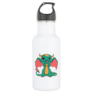 Mythical Dragon with Wings Stainless Steel Water Bottle
