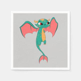 Mythical Flying Dragon Paper Napkin