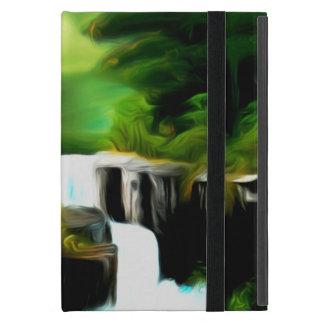 Mythical Green Fantasy Falls Cases For iPad Mini