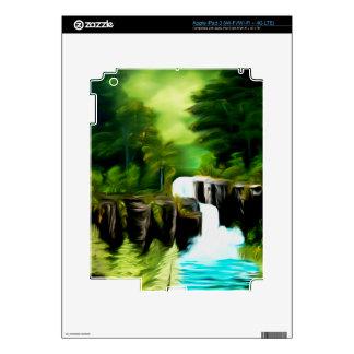 Mythical Green Fantasy Falls iPad 3 Skins