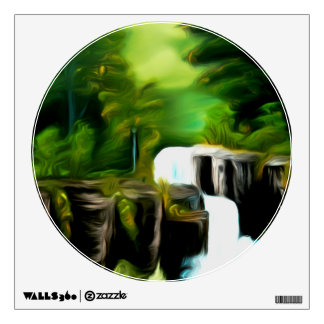Mythical Green Fantasy Falls Room Graphic