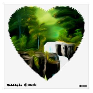 Mythical Green Fantasy Falls Wall Graphic