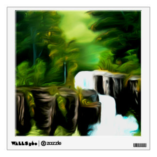 Mythical Green Fantasy Falls Wall Sticker
