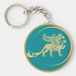 Mythical Gryphon Seal Keychains