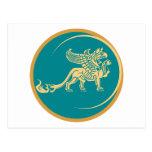Mythical Gryphon Seal Postcard