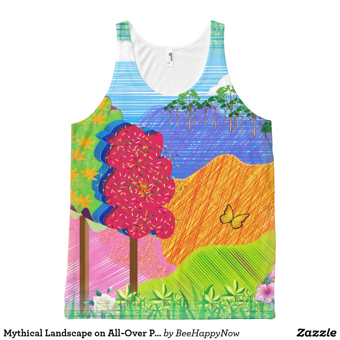 Mythical Landscape on All-Over Print Tank Top