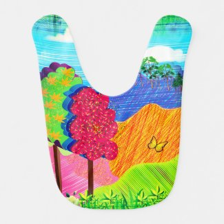 Mythical Landscape on Baby's Bib
