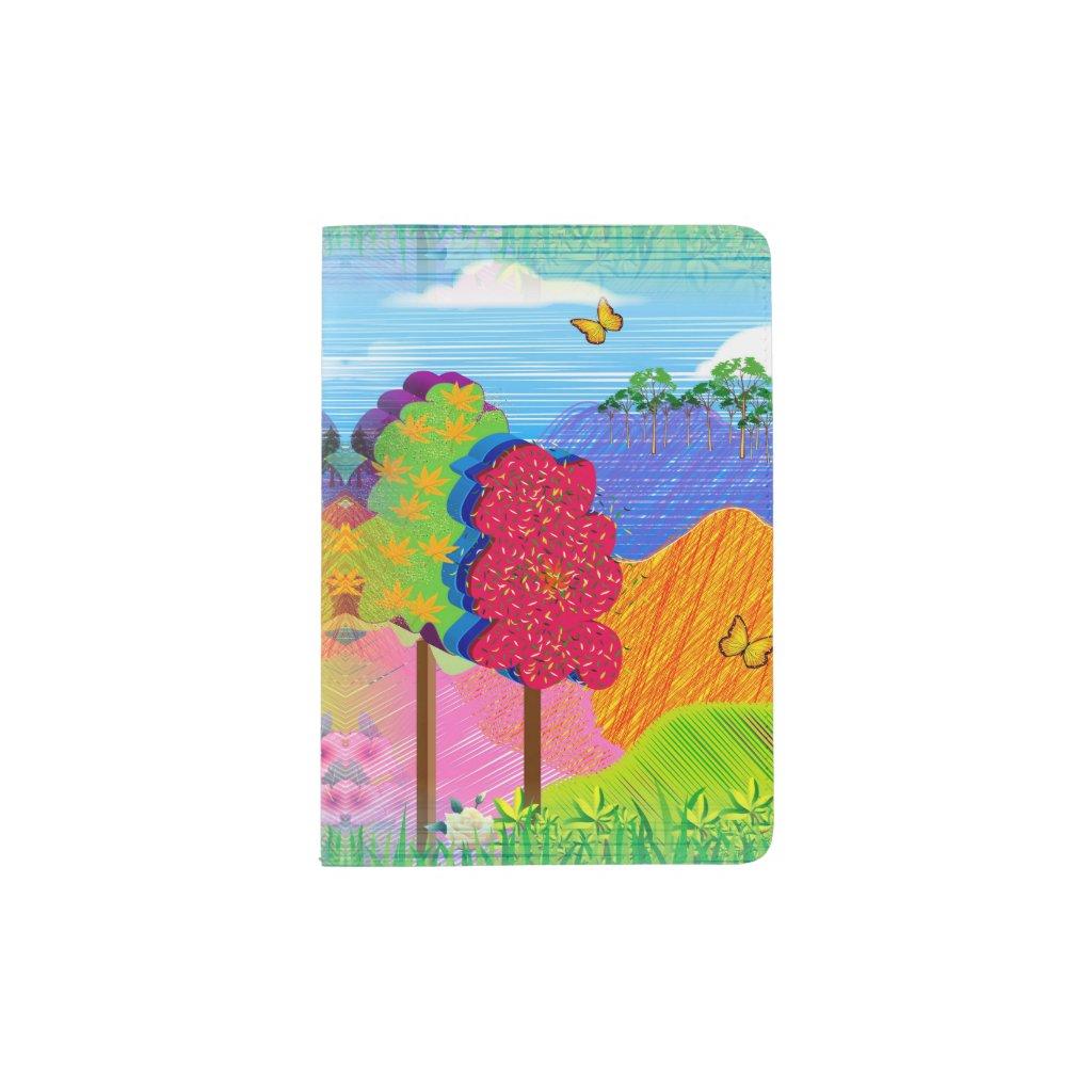 Mythical Landscape on Passport Holder