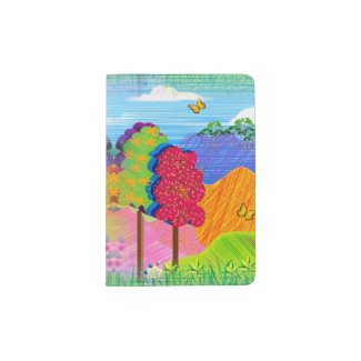 Mythical Landscape on Passport Holder