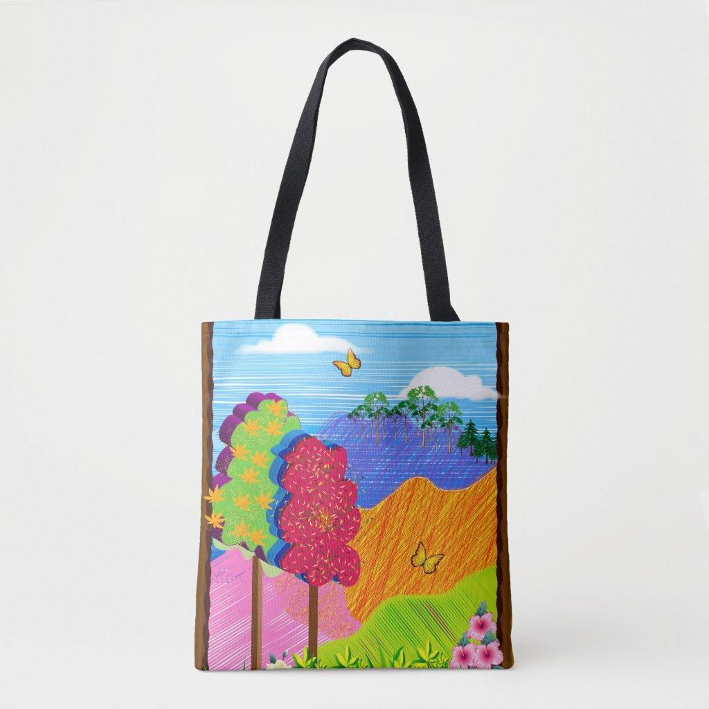 Mythical Landscape on Tote Bag
