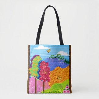 Mythical Landscape on Tote Bag