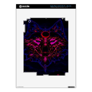 Mythical Neon Blue Wolf iPad 3 Decal
