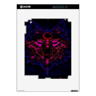 Mythical Neon Blue Wolf Skin For The iPad 2