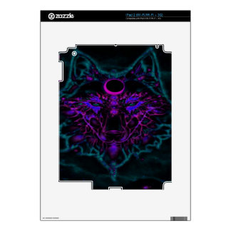 Mythical Neon Teal Wolf Skin For The iPad 2