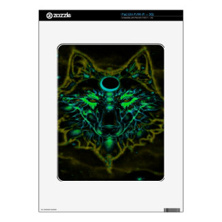 Mythical Neon Yellow Wolf iPad Decals