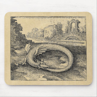 Mythical Ouroboros Dragon Mouse Pad