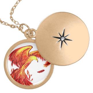 Mythical Phoenix Locket Necklace