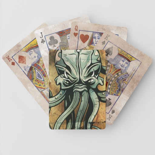 Mythical Sea Creature  Illustration Bicycle Playing Cards