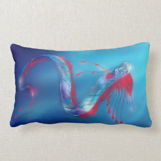 Mythical Sea Serpent Oarfish Throw Pillow