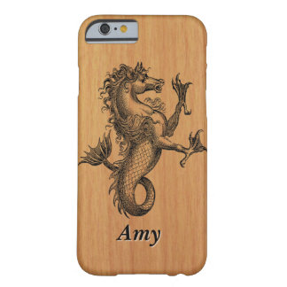 Mythical Seahorse on Cherry Wood Barely There iPhone 6 Case