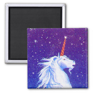 Mythical Unicorn 2 Inch Square Magnet