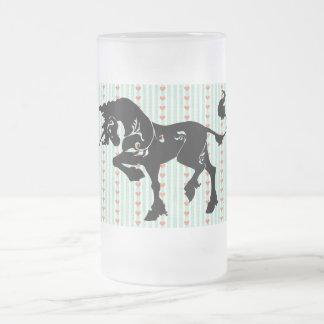 Mythical Unicorn Frosted Glass Beer Mug