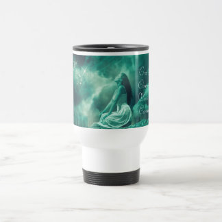 Mythical Woman Sending out Prayers to the Universe Travel Mug