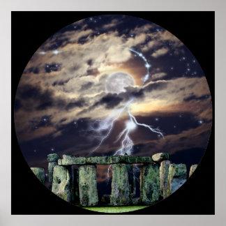 Mytho-Fantasía mística del arte del druida de Ston Posters