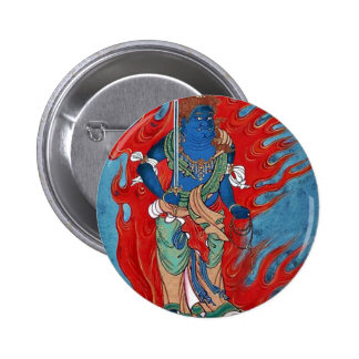 Mythological Buddhist standing on small island Pinback Buttons