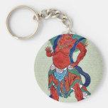Mythological Buddhist with long blue sash Keychains