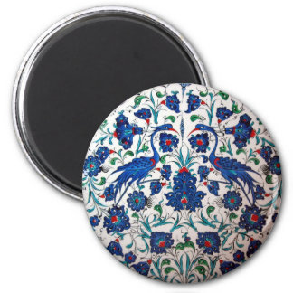 Mythological Heron Bird Pattern Tile Art Refrigerator Magnets