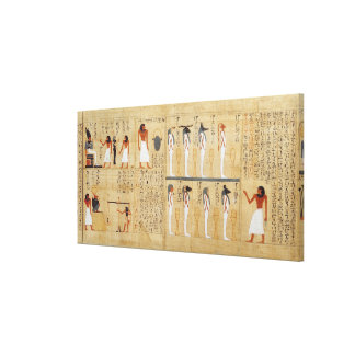 Mythological papyrus of Imenemsaouf Canvas Print