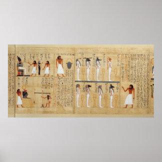 Mythological papyrus of Imenemsaouf Poster