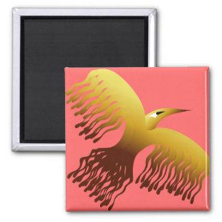 Mythological Phoenix Firebird 2 Inch Square Magnet