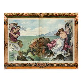 Mythological Satire Postcard