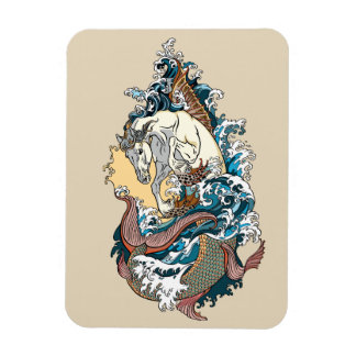 mythological sea horse magnet